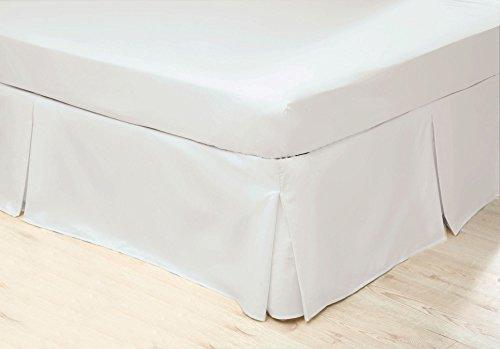Belledorm White Platform Base Valance Sheet (Double) Easycare, Plain Dyed, Non Iron