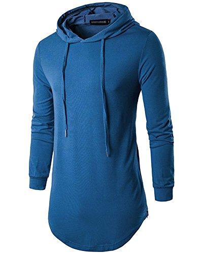 Kapuzenpullover Herren Slim Fit Sweatshirt Pullover Langarmshirt