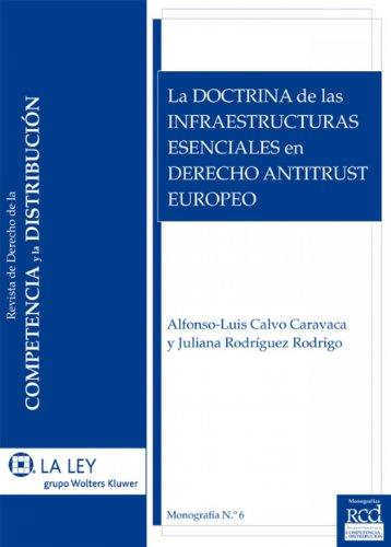 La doctrina de las infraestructuras esenciales en Derecho Antitrust europeo (Monografías de la Revista de Competencia y Distibución nº 6) por Alfonso-Luis Calvo Caravaca