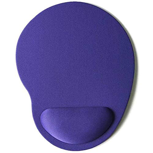 (HSZXCRTF Großhandel Umweltschutz Eva Armband Mauspad Kreative Volltonfarbe Mauspad benutzerdefinierte 2 Stücke, schwarz)