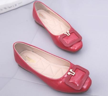 YMXJB Fin de boeuf européen et américain plat casual chaussures femme Red