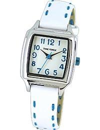 Reloj TIME FORCE para niña/señora. Acero Correa de piel. Blanco y azul. TF-4114B02