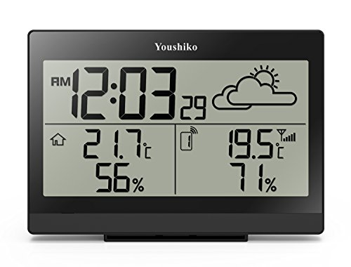 youshiko-wireless-weather-station-with-radio-controlled-clock-uk-version-indoor-outdoor-temperature-