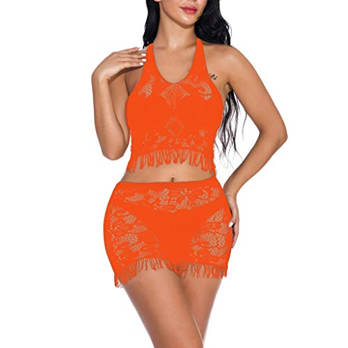 Pageantry Damen Kostüm Sexy Minirock Ouvert Babydoll Dessous Set V-Ausschnitt Wimper Cosplay Schulmädchen Kostüm Body Bralette BH und Mini-Röcke Set (Varys Kostüm)