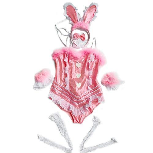 Erotic underwear-ZY ReizwäscheSpielerische Erwachsene Frauen Kaninchen hase Halloween Cosplay Partei sexy erotische Dessous Outfit Phantasie Body Overall Babydoll @ Wie Gezeigt_one_Size (Klassische Playboy Bunny Kostüm)