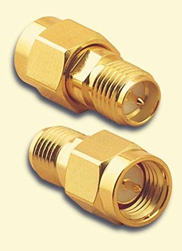 YCNK 2pcs sma maschio (Pin) a RP-SMA (Pin) femmina Dado connettore