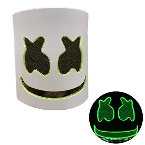 Me Furchterregende LED-Halloween-Maske, Leuchtmaske Cosplay, LED-Rave-Gesichtsmaske Kostüm 3 Beleuchtungsmodi, Halloween-Gesichtsmasken Für Männer, Frauen Und Kinder,G (Rave Kostüm Für Paare)