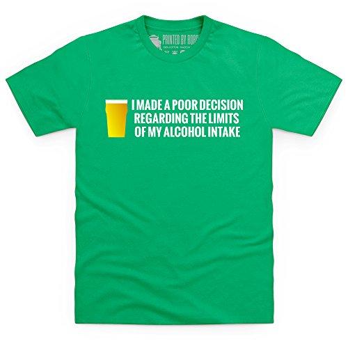 Poor Decision T-Shirt, Herren Keltisch-Grn