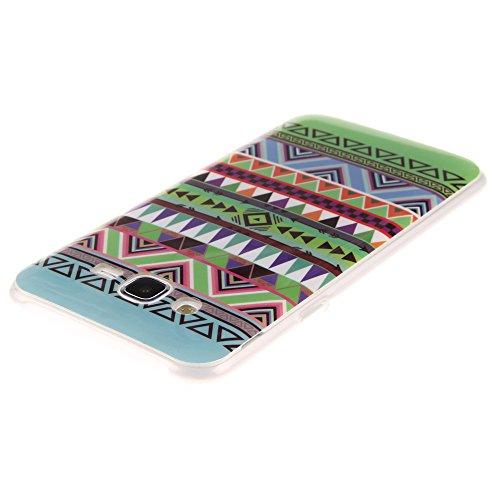 Samsung Galaxy J7 hülle MCHSHOP Ultra Slim Skin Gel TPU hülle weiche weiche Silicone Silikon Schutzhülle Case für Samsung Galaxy J7 - 1 Kostenlose Stylus (Vans von der wand (Vans off the wall)) Tribal Aztec (Tribal Aztec)