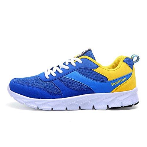 Uomo Scarpe sportive Il nuovo Moda Scarpe da corsa formatori traspirante All'aperto Scarpe da ginnastica Blue