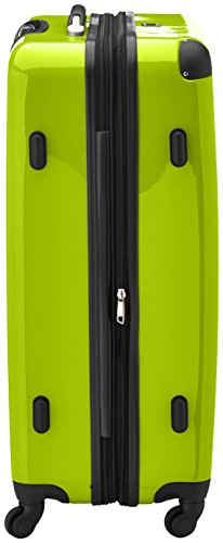 HAUPTSTADTKOFFER – Alex – Set of 3 Hard-side Luggages Glossy Suitcase Hardside Spinner Trolley Expandable (S, M & L) Applegreen