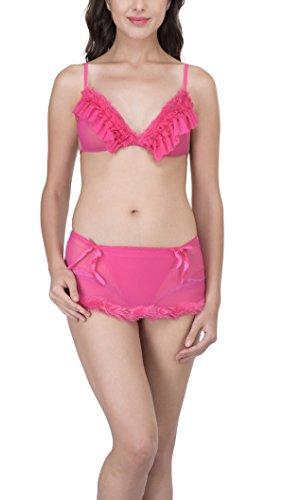 PrivateLifes Baby Doll Bikni Set Nightwear (Pink)