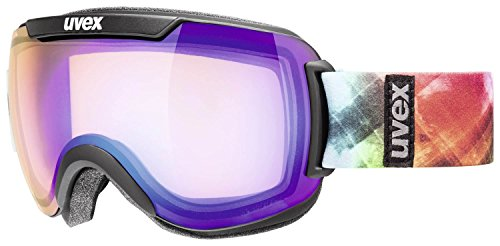 Uvex, Maschera da sci Downhill 2000, Nero (Black Mat/Ltm Blue), Taglia unica