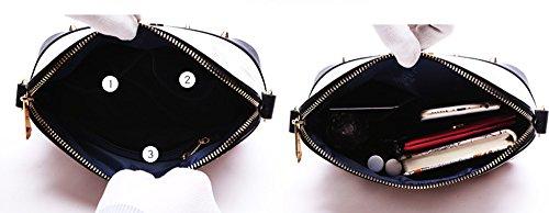 Mini sacchetto di estate, zaino semplice obliquo della spalla selvatica di modo coreano, borse delle coperture ( Colore : White+black ) Nero