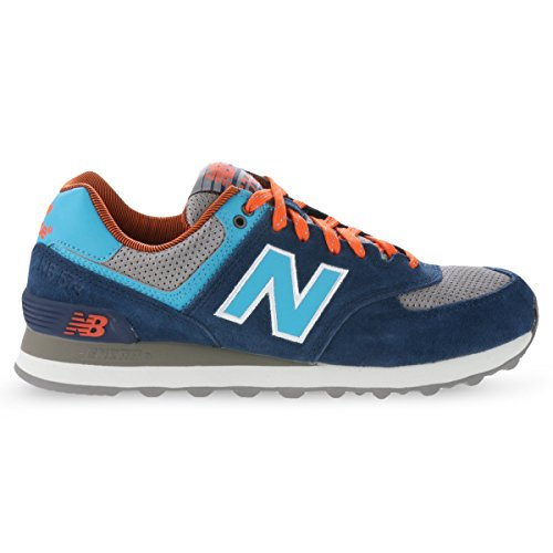 New Balance Classics Traditionnels Navy Grey Youths Trainers Size 4 UK