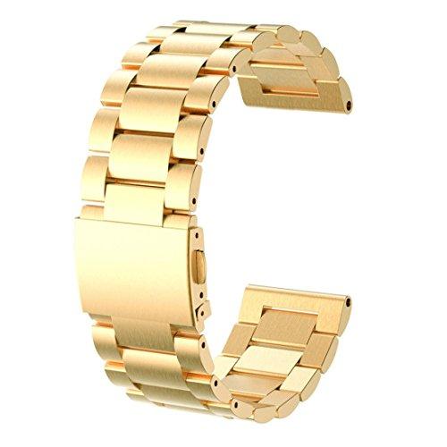 Per Garmin Fenix 3,Amlaiworld Moda nuovo acciaio inox Bracciale cinturino (oro)