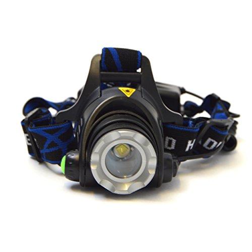 APOLLO LED Kopflampe Police 6000 inklusive Akku und Ladegerät - praktische Stirnlampe mit über 500 Lumen - Kopflampe mit verstellbarem Stirnband