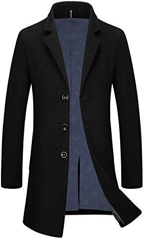 Uomini nuovi cappotti cappotti cappotti di lana con lunghi cappotti, L, nero   Conveniente    prezzo di vendita  5e2362