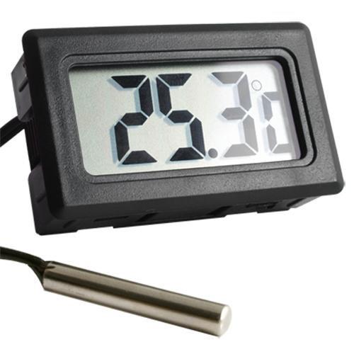 1 25 fittek lcd termometro professionale digitale sonda for Termometro per acquario tartarughe
