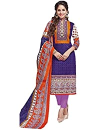 Nafees Creations Women's Cotton Unstitched Dress Material (Nafees- 0004_Multi-Coloured _Free Size)