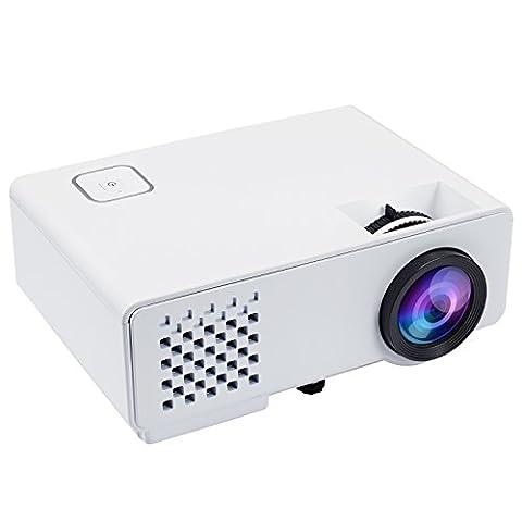 Beamer, Nexgadget LED Minibeamer Multimedia Heimkino LCD Video Projektor für Home Entertainment Theater Video Spiele, unterstützt 1080P HDMI USB VGA AV, RD810, Weiß