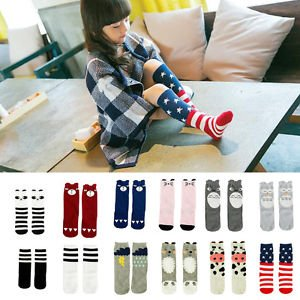 Banggood Baby Girl Toddler Kids Knee High Length Cotton Socks Tights Hosiery Stockings
