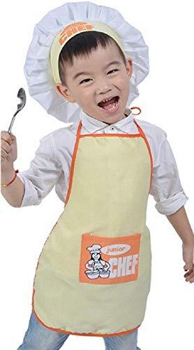 Inception pro infinite Gelb - Einheitsgröße Kostüm Uniform Koch Junior Kinder Hut Schürze Verkleidung Karneval Halloween Cosplay Zubehör Unisex Bimbo Bimba
