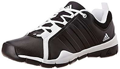 adidas Men's Outrider Black and White Mesh Running Shoes - 9 UK
