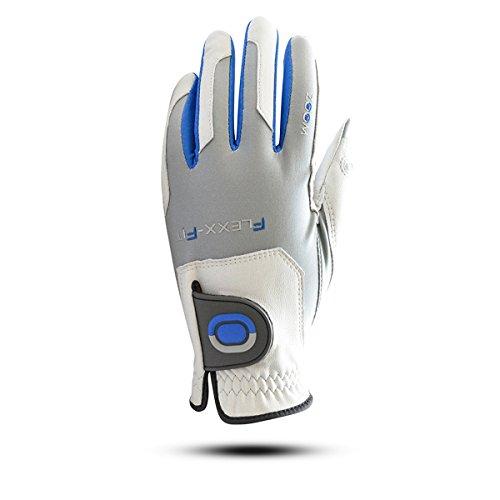 ZOOM GRIP Flexx Fit Herren Golfhandschuh Linkshand (Silver/Cobalt) -