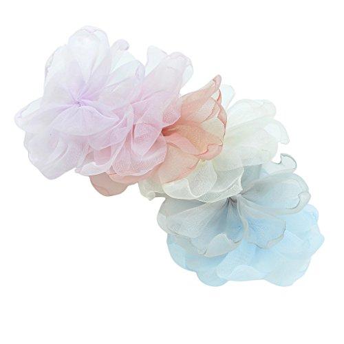 iffon Blumen Nähen Appliques Handwerk Hochzeit Haarspangen Bögen DIY ()