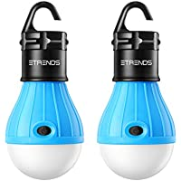 E-TRENDS 2 Pack Portable LED Lantern Tent Light Bulb Camping Hiking Fishing Emergency Light, Battery Powered Camping Equipment Gear Gadgets Lamp Outdoor & Indoor