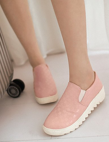 ZQ gyht Scarpe Donna - Mocassini - Casual - Punta arrotondata - Basso - Finta pelle - Nero / Rosa / Bianco , pink-us8.5 / eu39 / uk6.5 / cn40 , pink-us8.5 / eu39 / uk6.5 / cn40 black-us6 / eu36 / uk4 / cn36