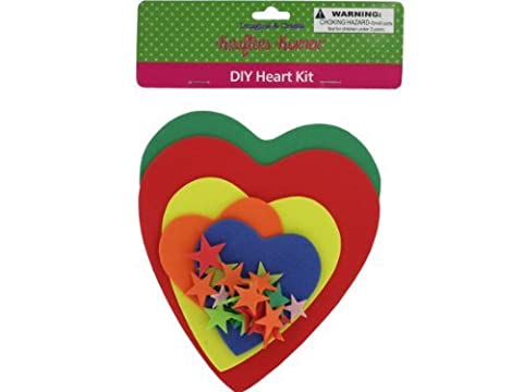 Do-it-yourself foam heart craft kit-Package Quantity,48 by krafters korner