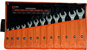 AXIS 28746 6mm x 7mm to 30mm x 32mm Metric Open End Spanner Set (12 Pieces)