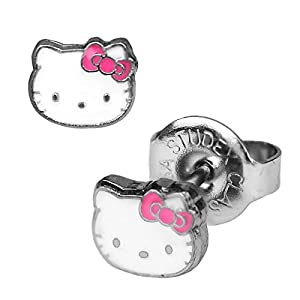1 Paar Studex Erstohrstecker Chirurgenstahl Hello Kitty Ohrringe