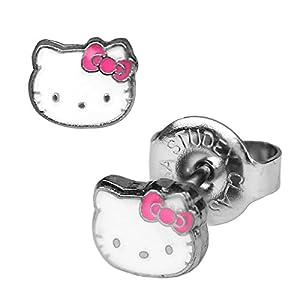 1 Paar Studex Erstohrstecker Chirurgenstahl Hello Kitty Ohrringe