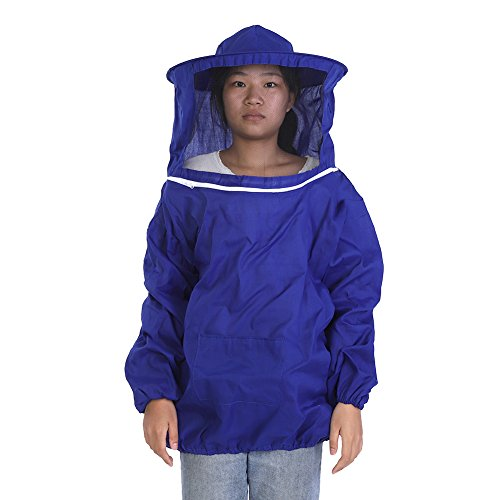 tzjacke Professionelle Durable Komfortable Runde Hut Anzug Bienenhaltung Imker Ausrüstung MEHRWEG VERPACKUNG (Blau) ()
