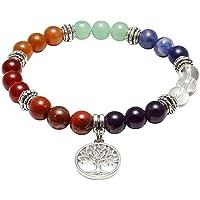 JOVIVI Damen Herren Stein Armband Reiki-Energietherapie Yoga-Armband Baum des Lebens Anhänger 7 Chakra Balance... preisvergleich bei billige-tabletten.eu