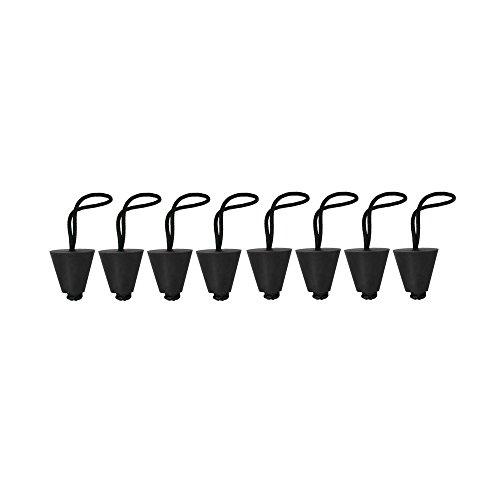 """8 Stück Universal Kayak Scupper Plug Set, Wasserablauf Plug Kit Stöpsel für Boot Kajak Kanu Löcher zwischen 3/4\""""und 1,5\"""" Zoll"""
