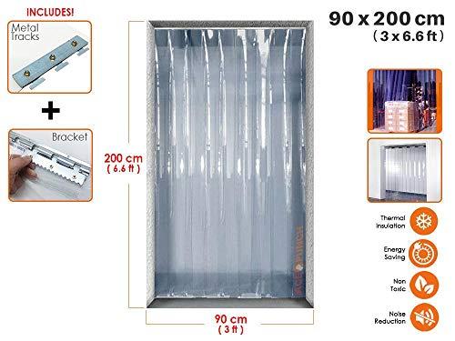 Acepunch Cortina tira plástico PVC 90cm x 200cm 3