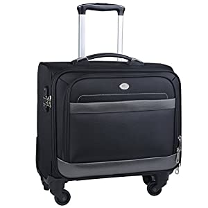 Wheeled Laptop Bag,Coofit Laptop Trolley Bag 16 Inches Computer Bag on Wheels Rolling Laptop Bag Suitcase Carry On Luggage…