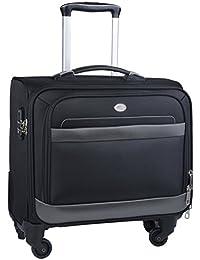 Trolley PC,Coofit Trolley Cabina Borsa Porta Notebook 15.6 Trolley Bagaglio a Mano 4 ruote Trolley da Viaggio