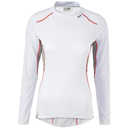 Scott Next2skin Damen Fahrrad Funktions Unterhemd lang weiß/grau