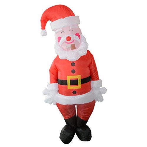 P Prettyia Costume Gonfiabile Turchia Babbo Natale Fenicottero Pollo Cavallo per Carnevale+Ventilatore - Babbo