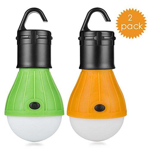 2 Stück LED Camping-Laterne Leuchtmittel – Sun Run Zelt Lichter, Notfall Nacht Lampe für drinnen und draußen Wandern Angeln, tragbar, batteriebetrieben