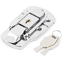sourcingmap® Maleta de equipaje en el pecho baúl de metal de bloqueo Palanca Captura Pestillo