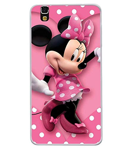 Bluethroat Polka Dot Pink Mickey Mouse Designer Printed Soft Silicone Mobile Case Back Cover for Yu Yureka 5510