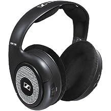 Sennheiser RS 130 Negro, Plata Supraaural auricular - Auriculares (Supraaural, Alámbrico, 18