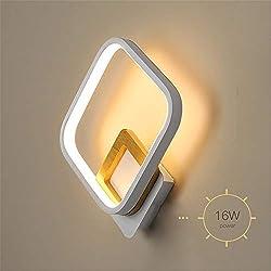 Lámpara de pared creativa Luces de pasillo multiusos Luz de lectura junto a la cama Lámpara de pared minimalista de hierro Pantalla for sala de estar Café con almacenamiento Apliques Vidrieras