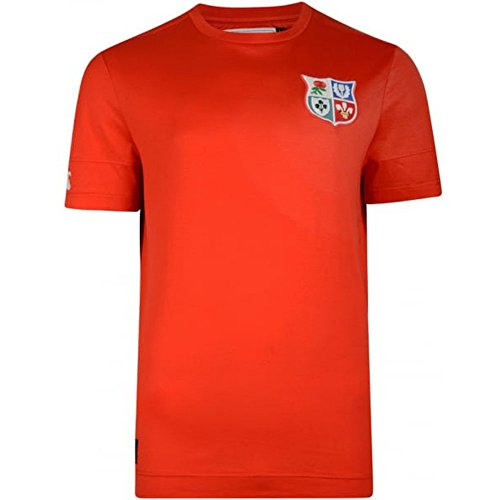 Canterbury British & Irish Lions 2017 Cut & Sew Panelled Rugby T-Shirt - Fiery Red - Size L - Irish Lions Rugby